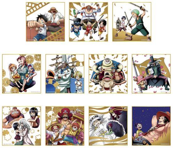 一番くじ ワンピース Best of Omnibus H賞 メモリアル色紙 全11種
